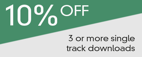 10 percent off 3 or more single track downloads