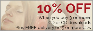 10% off. When you buy 3 or more CD or CD downloads. Plus FREE delivery on 5 or more CDs.