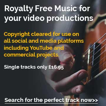 Royalty Free Music for your video productions, copyright cleared for use on all social and media platforms including YouTube and commercial projects. Search for the perfect track now. Single tracks only £16.95